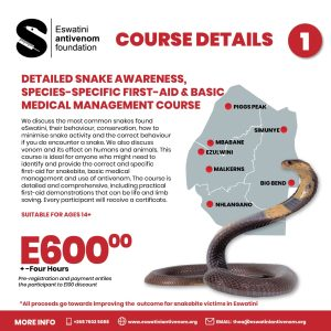 Course 1 Snake Awareness Species Specific First Aid Medical Management